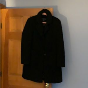 Mid length Boucle black coat - worn twice!